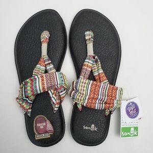 NWT Sanuk Yoga Sling 2 Print Sandals